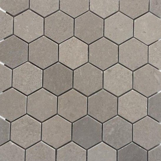 Lady Gray Hexagon Honed Marble Tile Honed Marble Tiles Hexagon