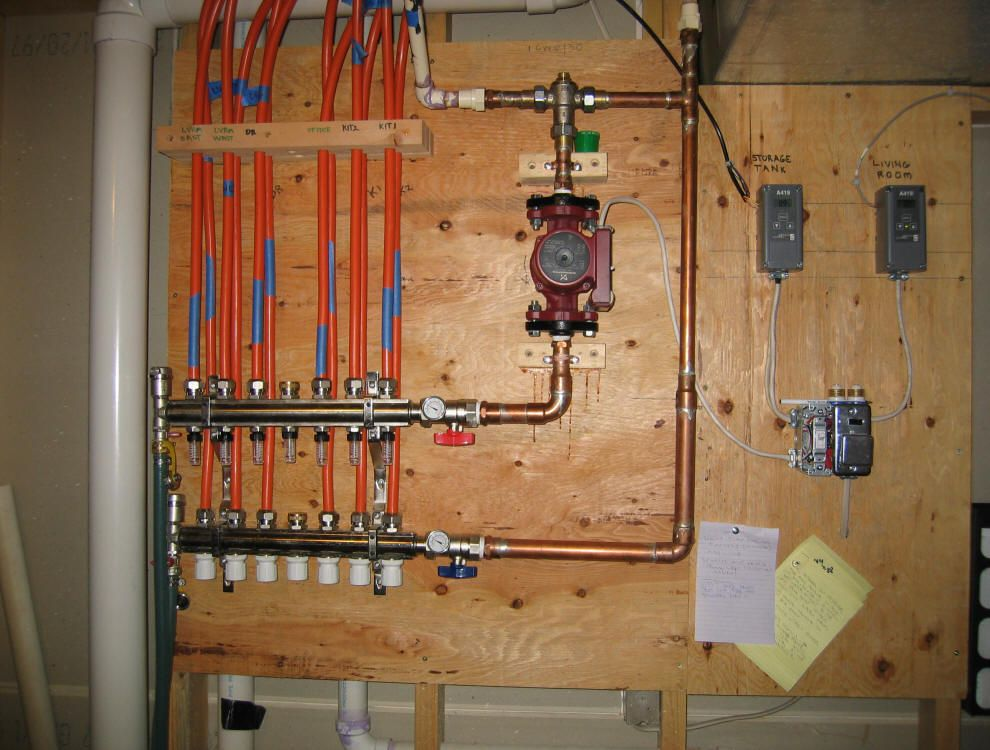 Solar House Heating System Control Diagram Plumbing