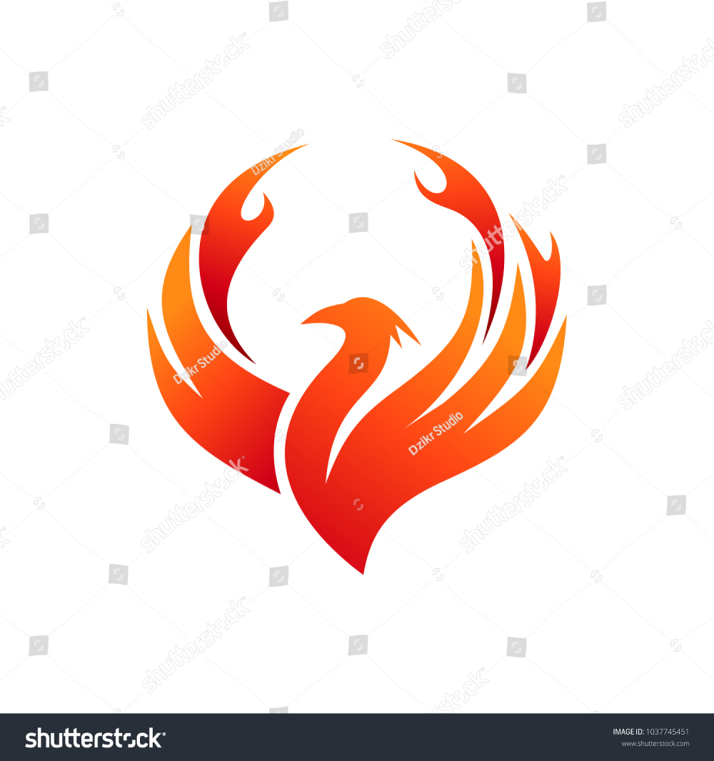 Phoenix Fire Logo Stock Vector Royalty Free 1037745451 Phoenix Design Abstract Images Vector
