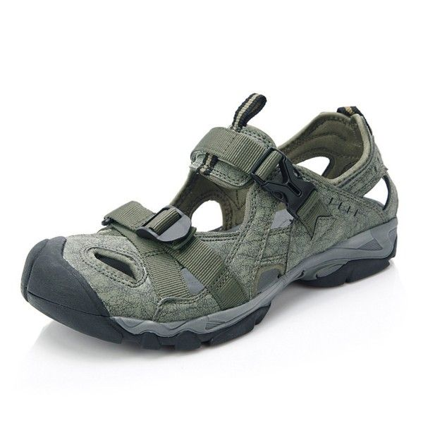 Men's Closed-Toe Hiking Sandal Outdoor Sport Fisherman Athletic Water Sandal  SD206 - Green - CK11ZPQXLCZ | Best hiking shoes, Sport sandals, Womens  sandals