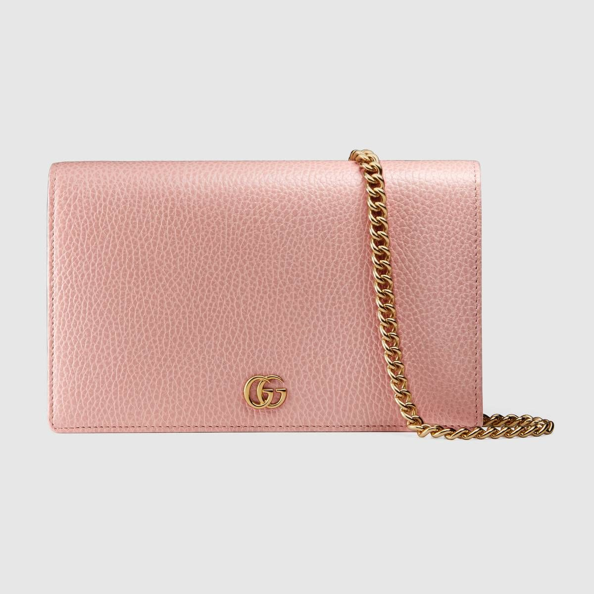 Gucci Gg Marmont Leather Mini Chain Bag 895 Has A Zipper Compartment 6 Card Slots Wallet On Chain And One Ope Mini Chain Bag Wallets For Women Chain Bags
