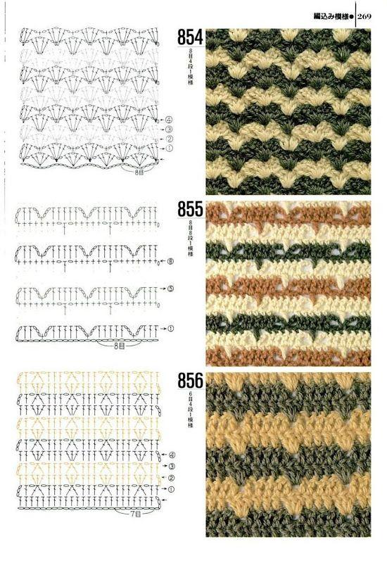 color crochet stitchpattern | Crochet | Pinterest