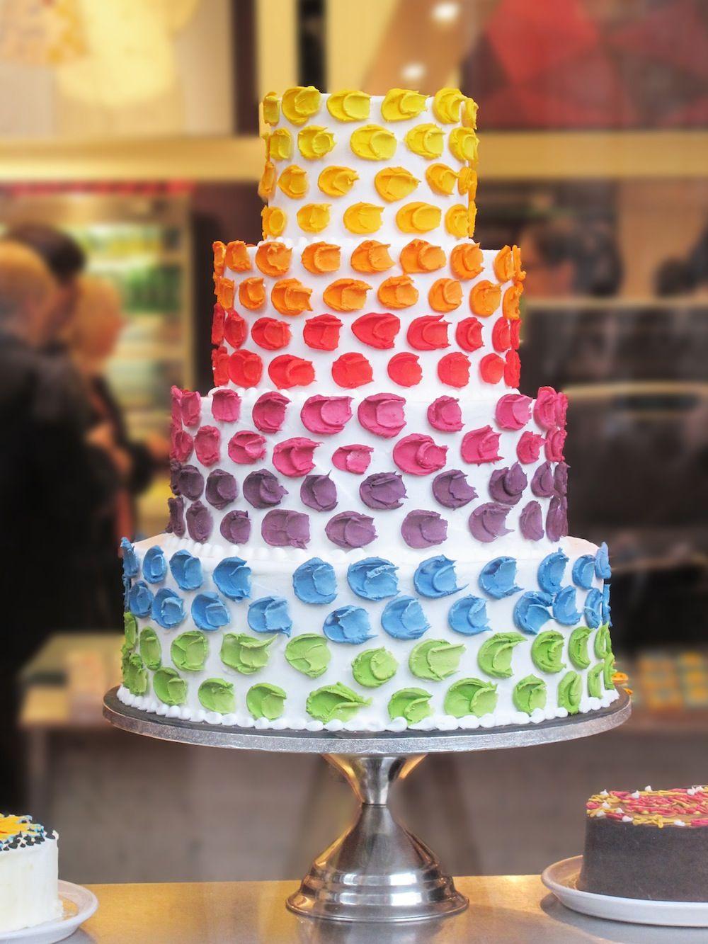 Colourful rainbow wedding cake Cakes&Co Pinterest