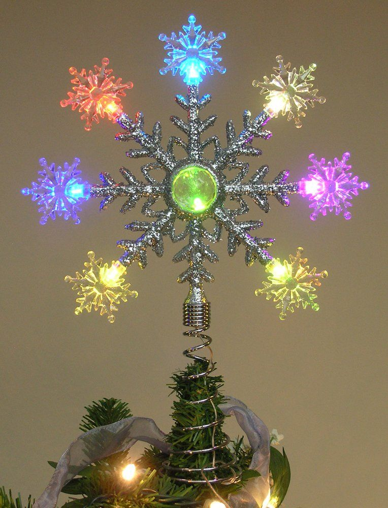 Tree Topper Color Changing - Battery Operated LED ...