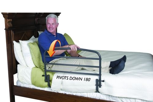 Stander 30 Inch Safety Bed Rail Optional Pouch Safety Bed
