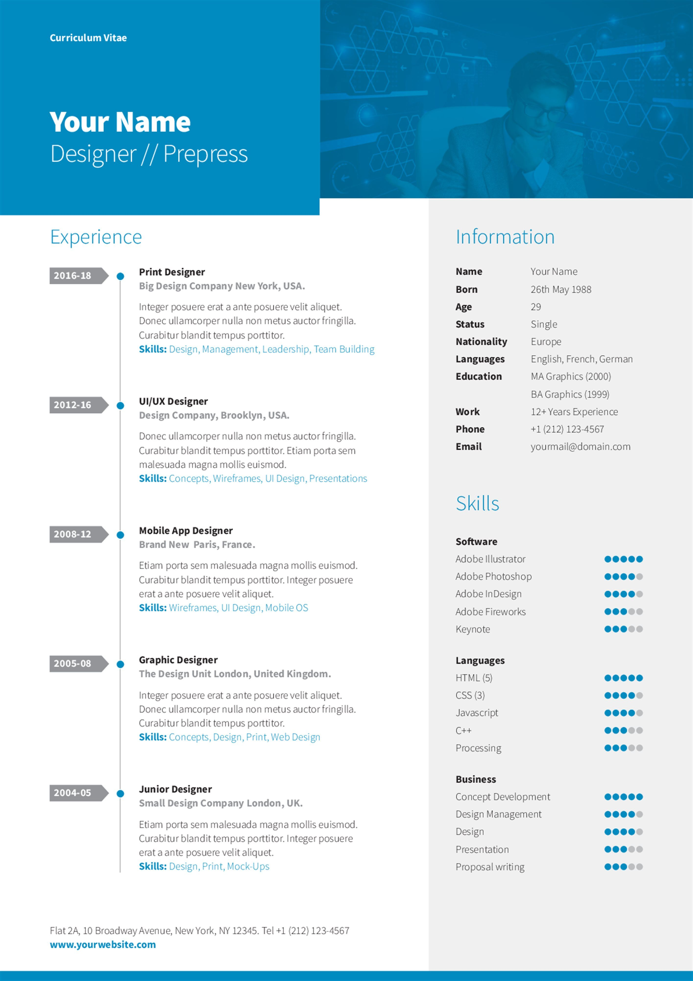 A Simple Fresh Trifold Brochure Template That Can Be Customized - Simple tri fold brochure template