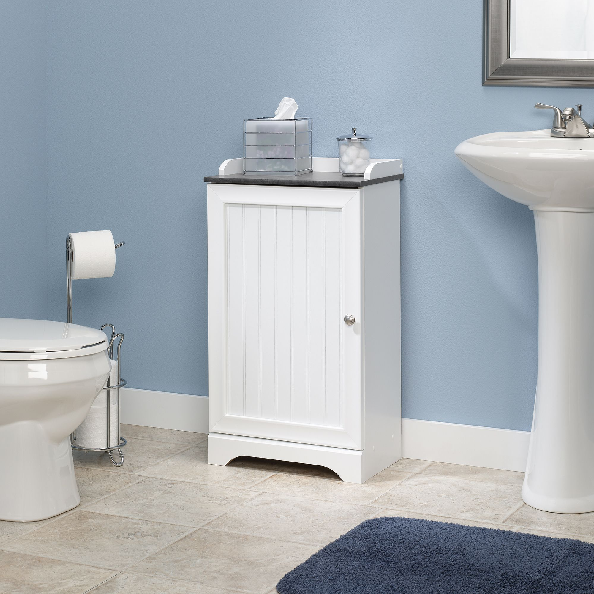 Stylish Inspiration Small Bathroom Floor Cabinet Sauder Bath 414032 Badezimmer Schrank Aufbewahrung Fur Kleines Badezimmer Bodenbelag Fur Badezimmer