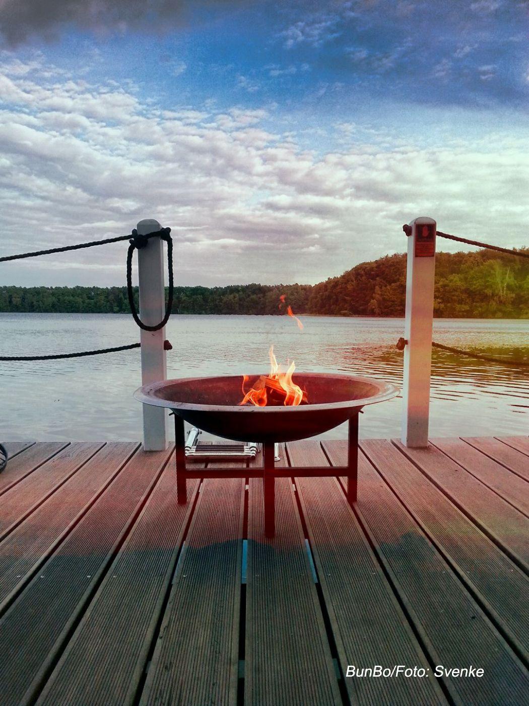 Feuerschale #bunboland #BunBo #Haubsoot #Bungalowboot
