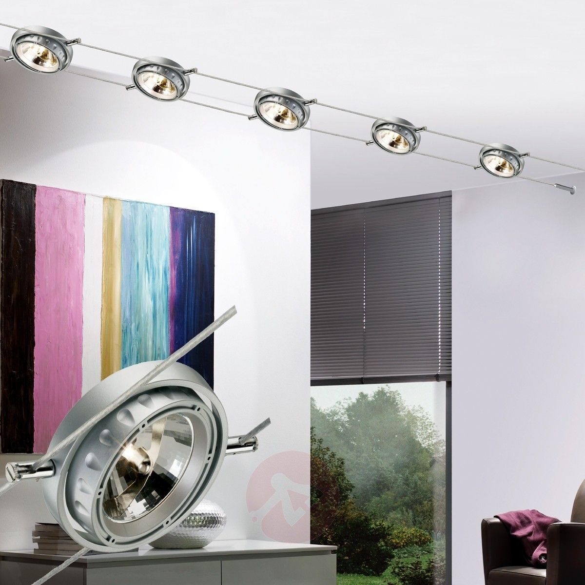 Powerline Low Voltage Cable System 6 Set Round Mirror Bathroom Light Architecture Home
