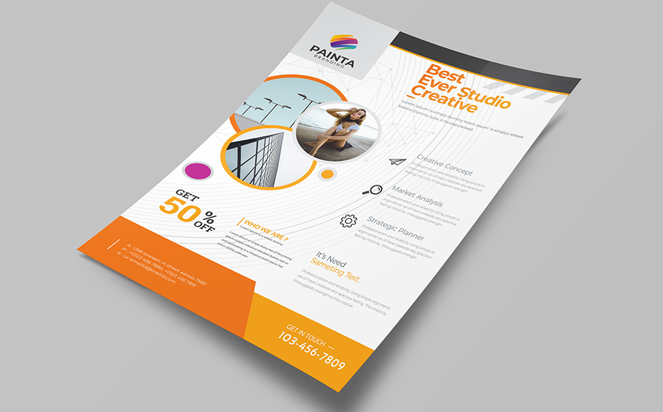 Best Ever Studio Creative Flyer Corporate Identity Template 76992 Creative Flyers Leaflet Design Template Flyer