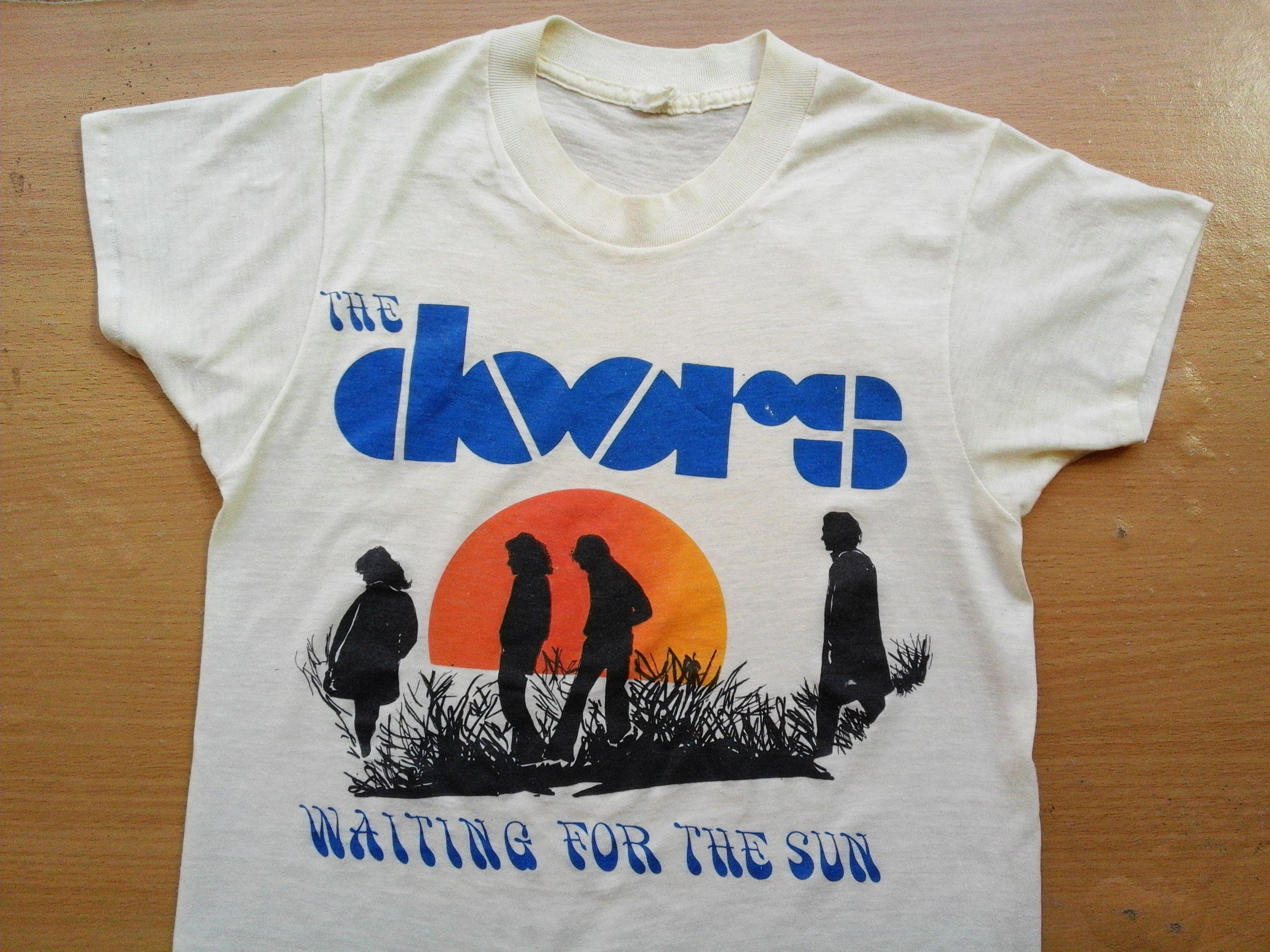 (Rare) Original 1970s THE DOORS WAITING FOR THE SUN ALBUM PROMO T SHIRT # & Rare) Original 1970s THE DOORS WAITING FOR THE SUN ALBUM PROMO T ...