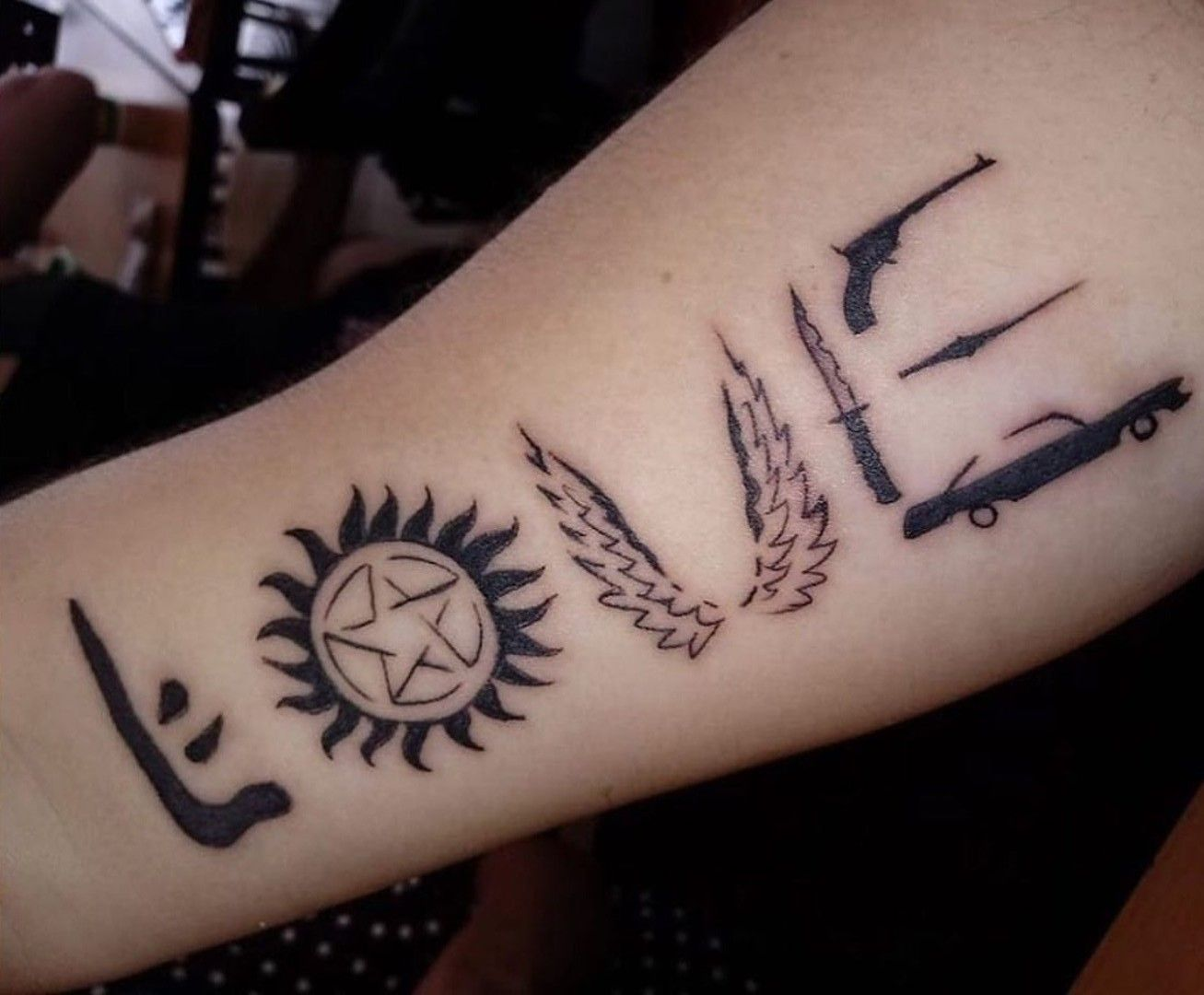 This would be a good Supernatural tattoo. … Supernatural