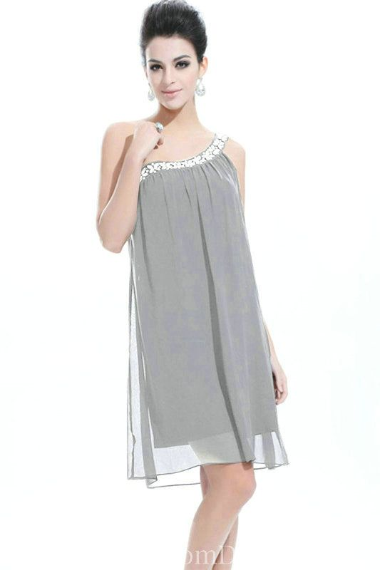 Plus Size Chiffon Short Cocktail Dress