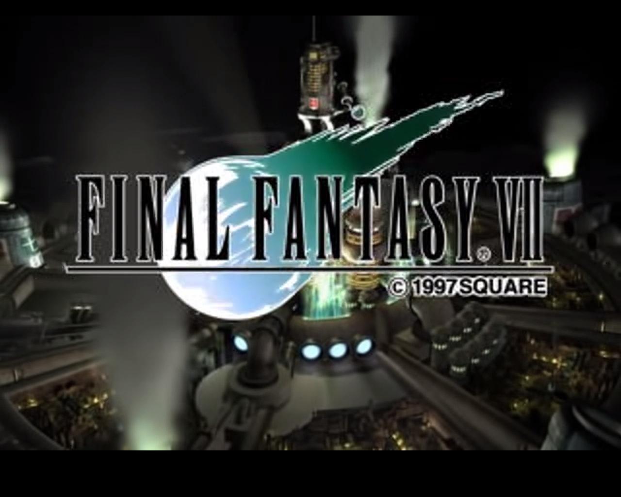 Final Fantasy Vii Title Screen Final Fantasy Vii Remake Final