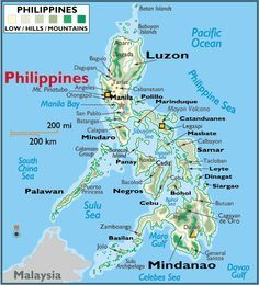 Printable Philippine Map  printable Philippines map  philippines