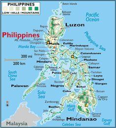 Printable Philippine Map  printable Philippines map  philippines