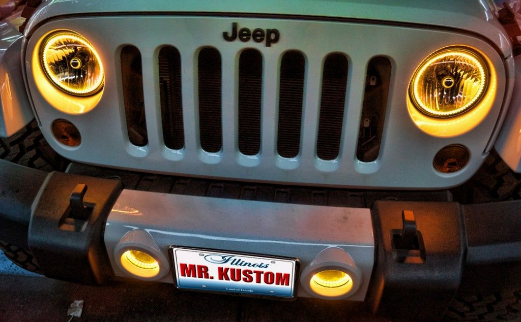 2012 Jeep Wrangler Halo Headlights
