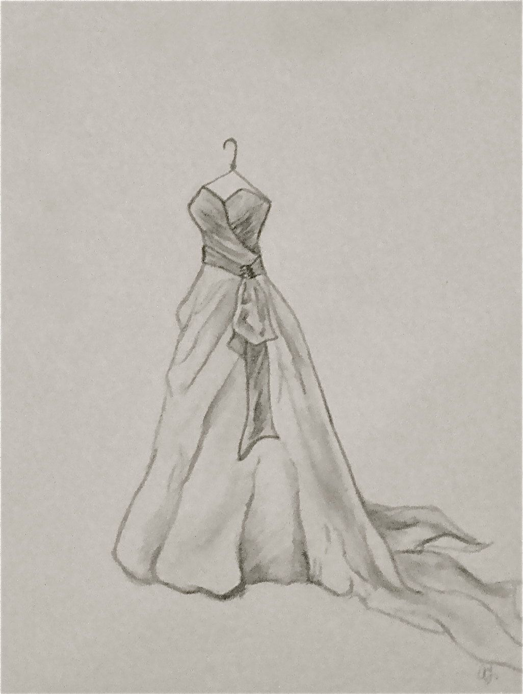 Custom Wedding Dress Sketch | Artisan | Pinterest | Wedding dress ...