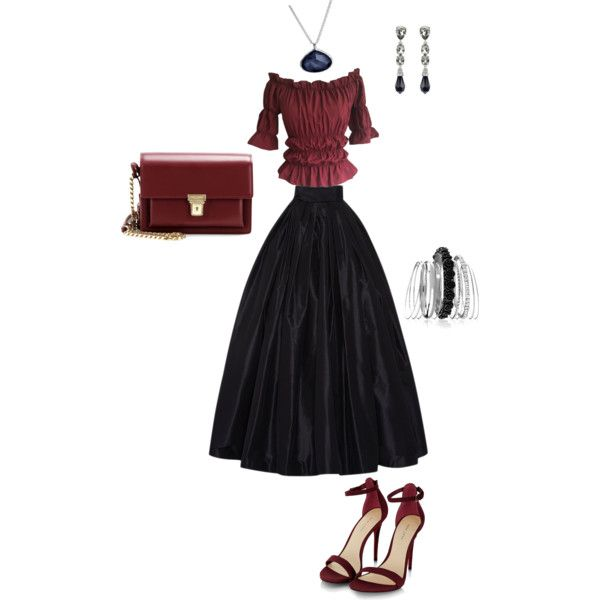 A fashion look from October 2015 featuring Naeem Khan skirts, Yves Saint Laurent shoulder bags and Ippolita necklaces. Browse and shop related looks.