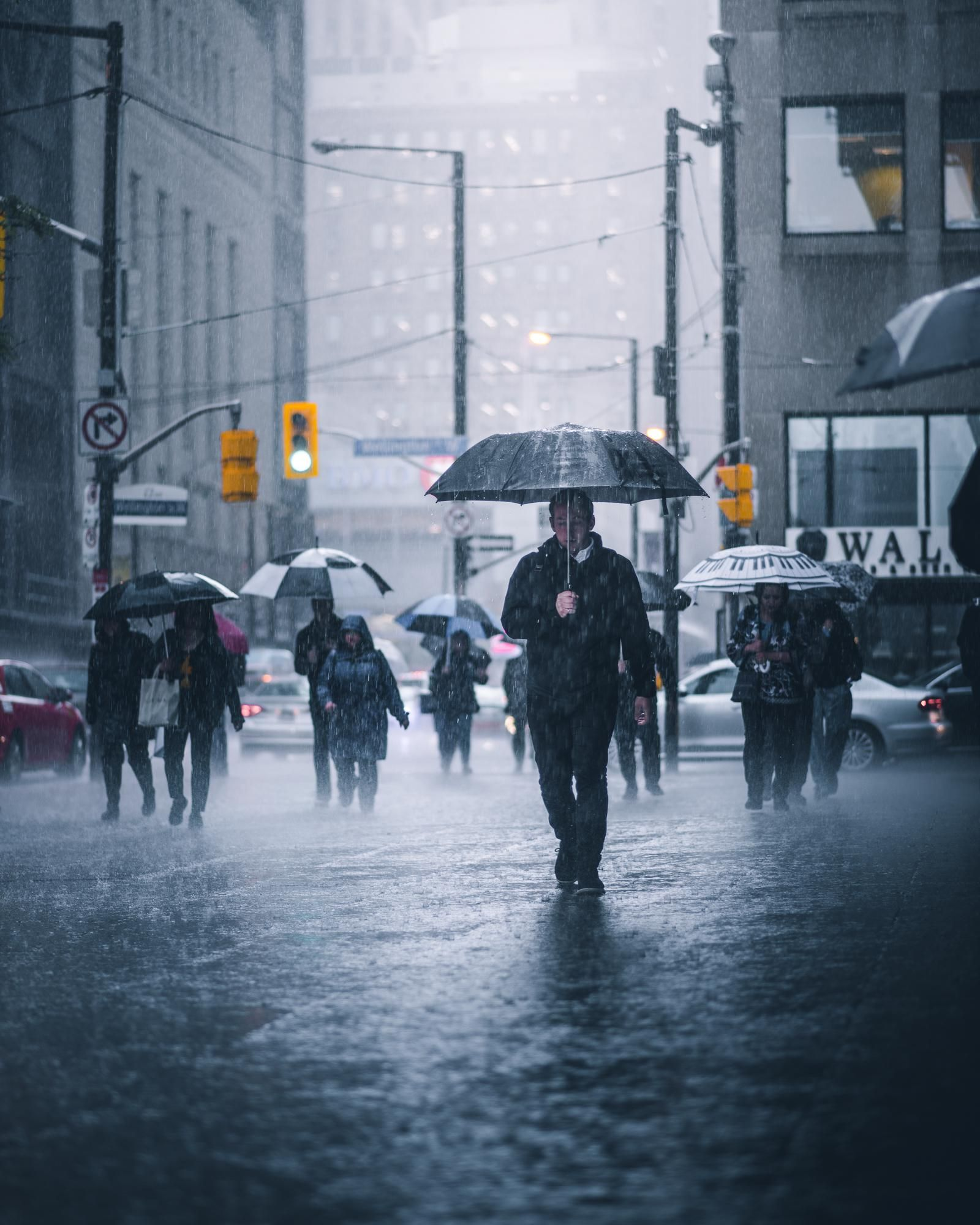 ITAP of people walking in the rain by jackjustdied . . . . #photos  #amazingworld #world …   City streets photography, Walking in the rain,  Street photography people