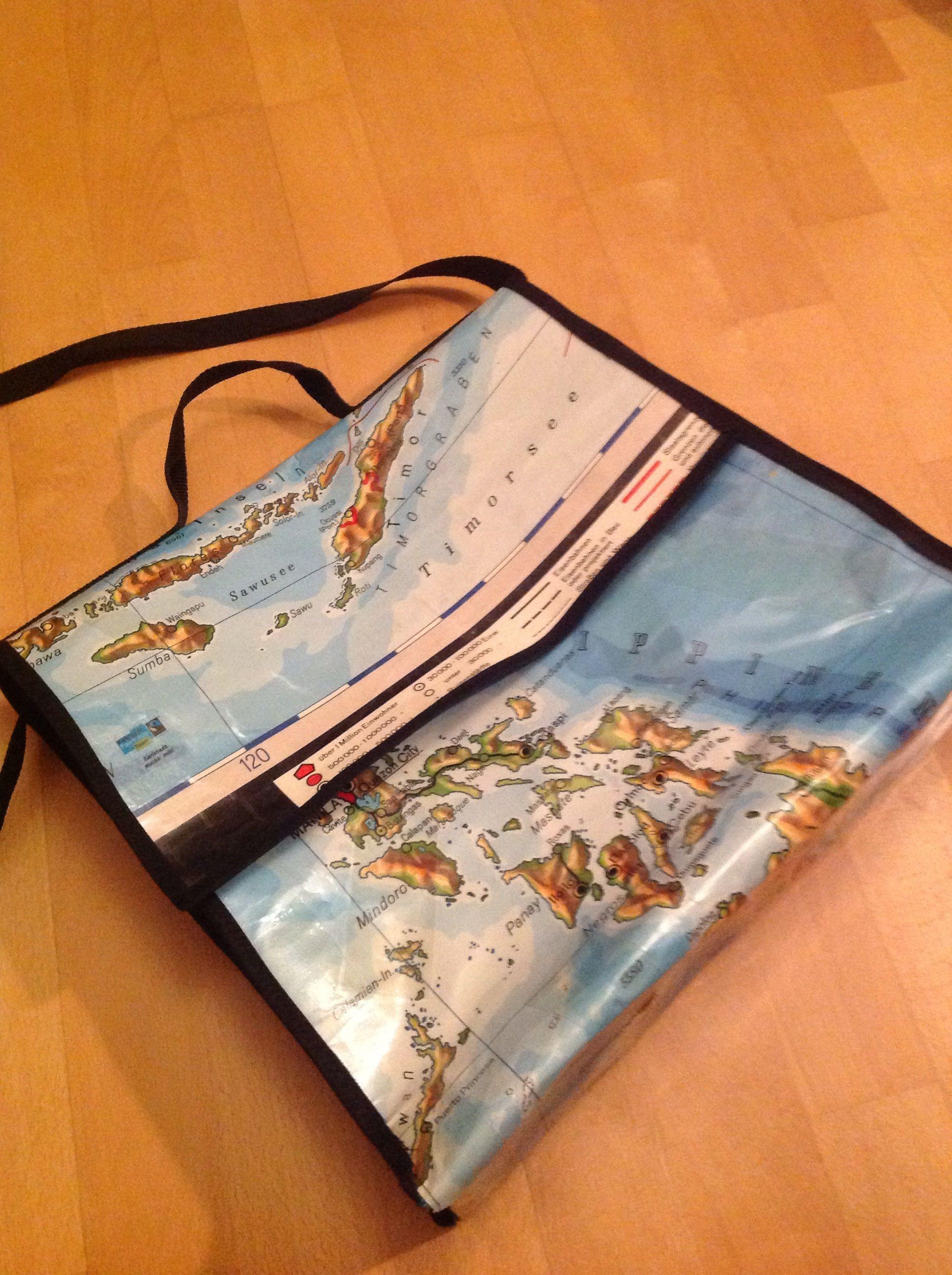Tasche Aus Wandkarte Landkarte Karten Und Taschen