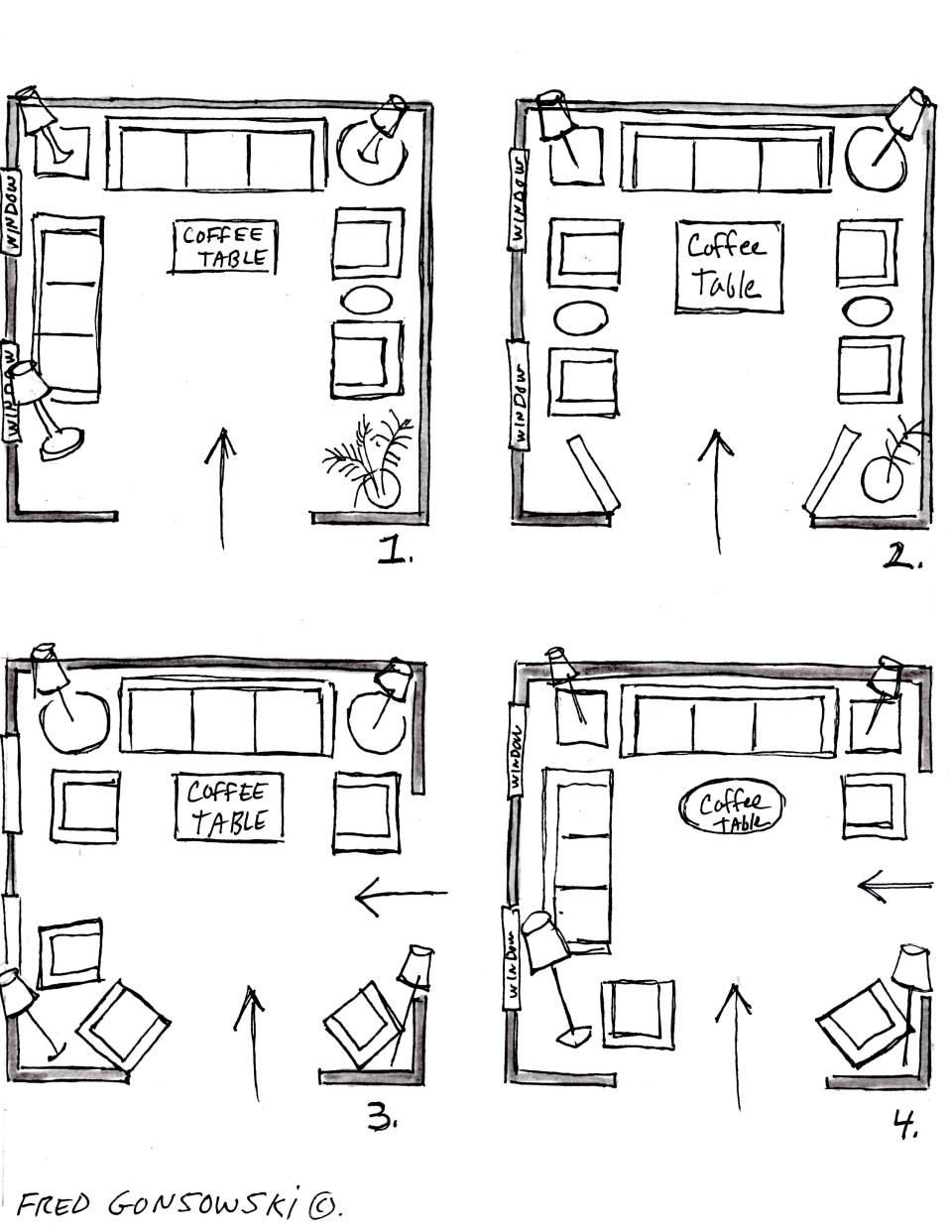 Living Room Plan Design Valance For Square Interior