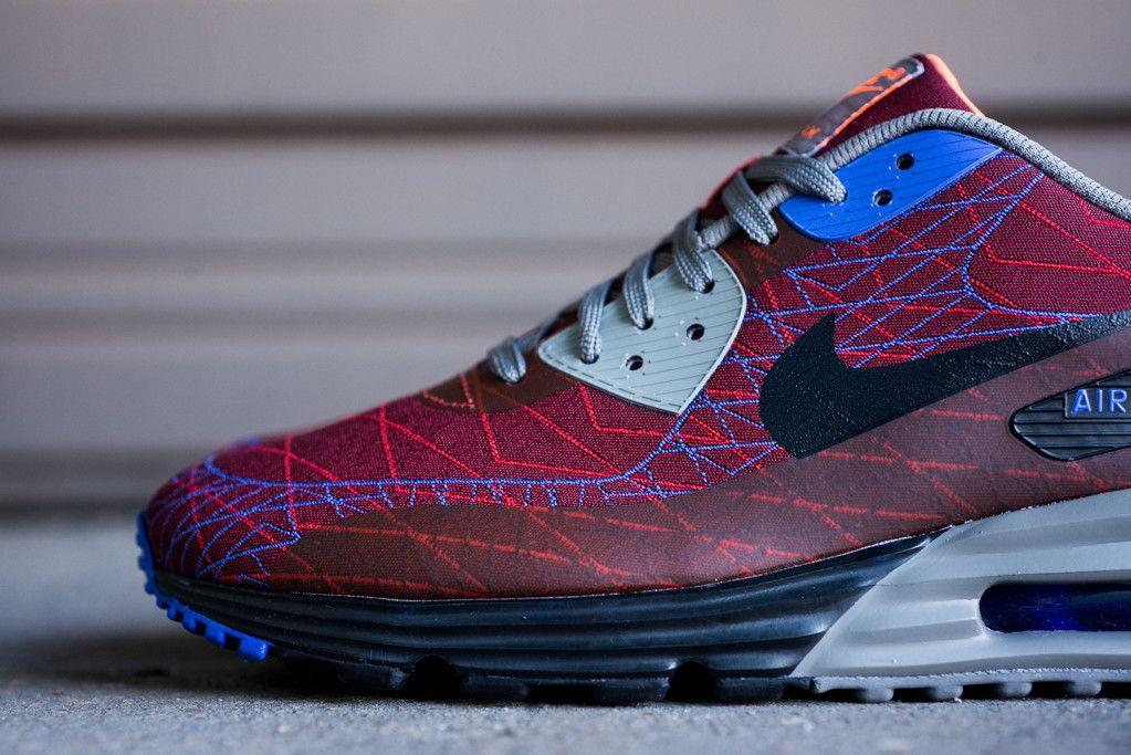 premium selection 0f2a7 3213a Nike Air Max Lunar 90 Jacquard Red  Purple