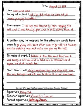Apology Letters Template That Teaches Kids To Make Meaningful