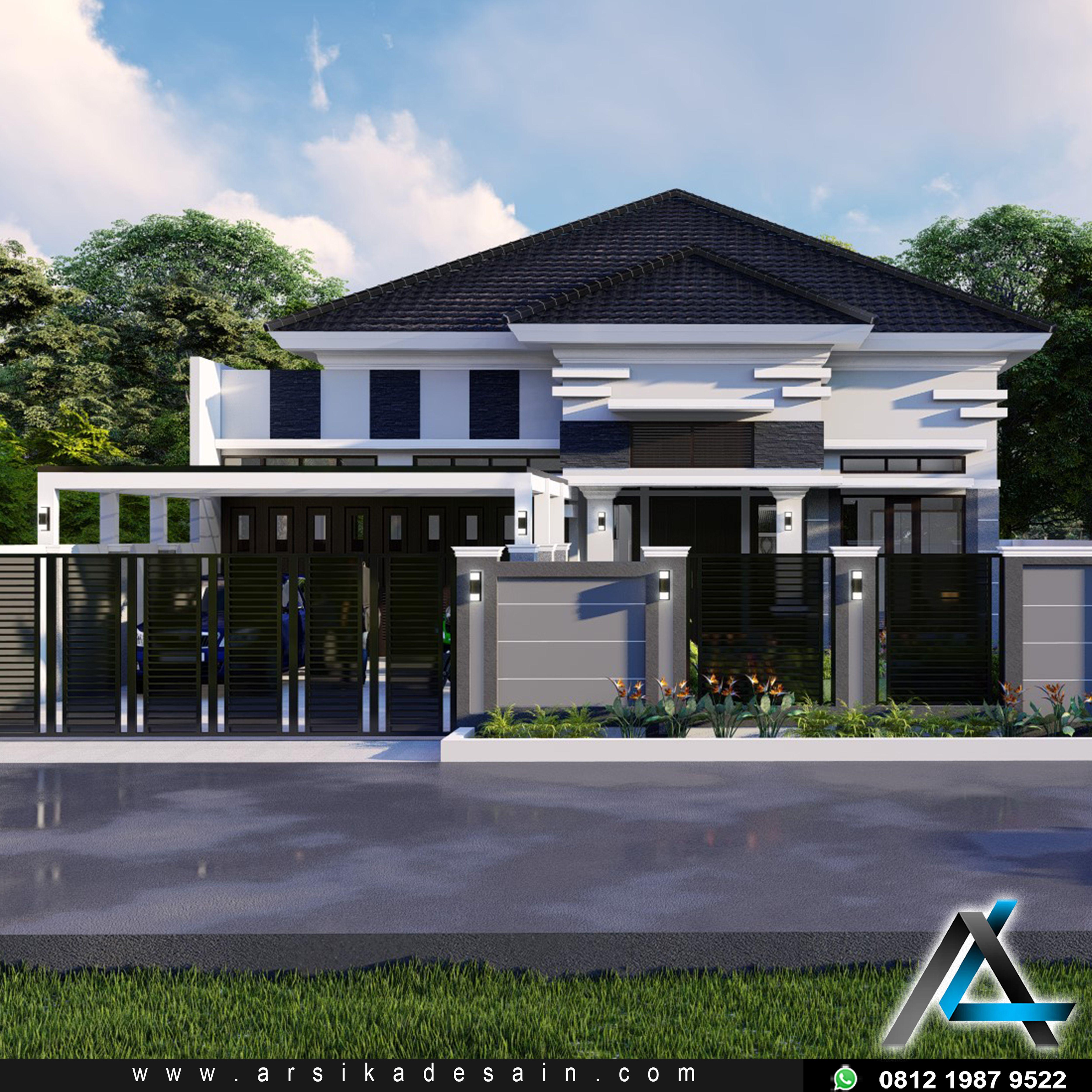 Desain Rumah Tropis 3 Kamar 1 Mushola 1 Garasi Cek Bahan Bangunan