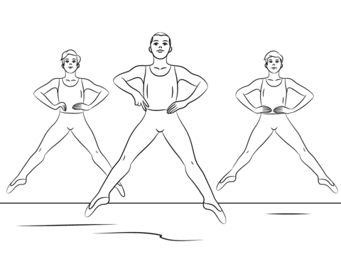 Boy Ballet Coloring Page Free Printable Coloring Pages Ballet Boys Coloring Pages For Boys Dance Coloring Pages