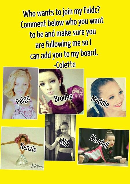 Who wants to join my FALDC???? Comment the dancer that you want below. :):):):)