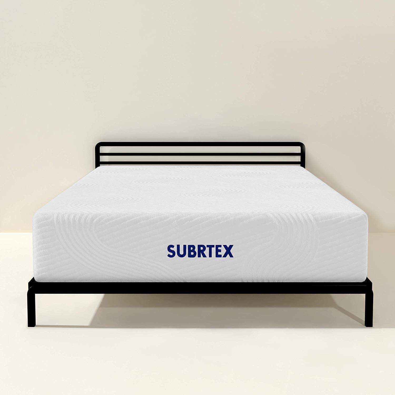 Subrtex 12 Inch Twin Mattress Gel Memory Foam Mattress With