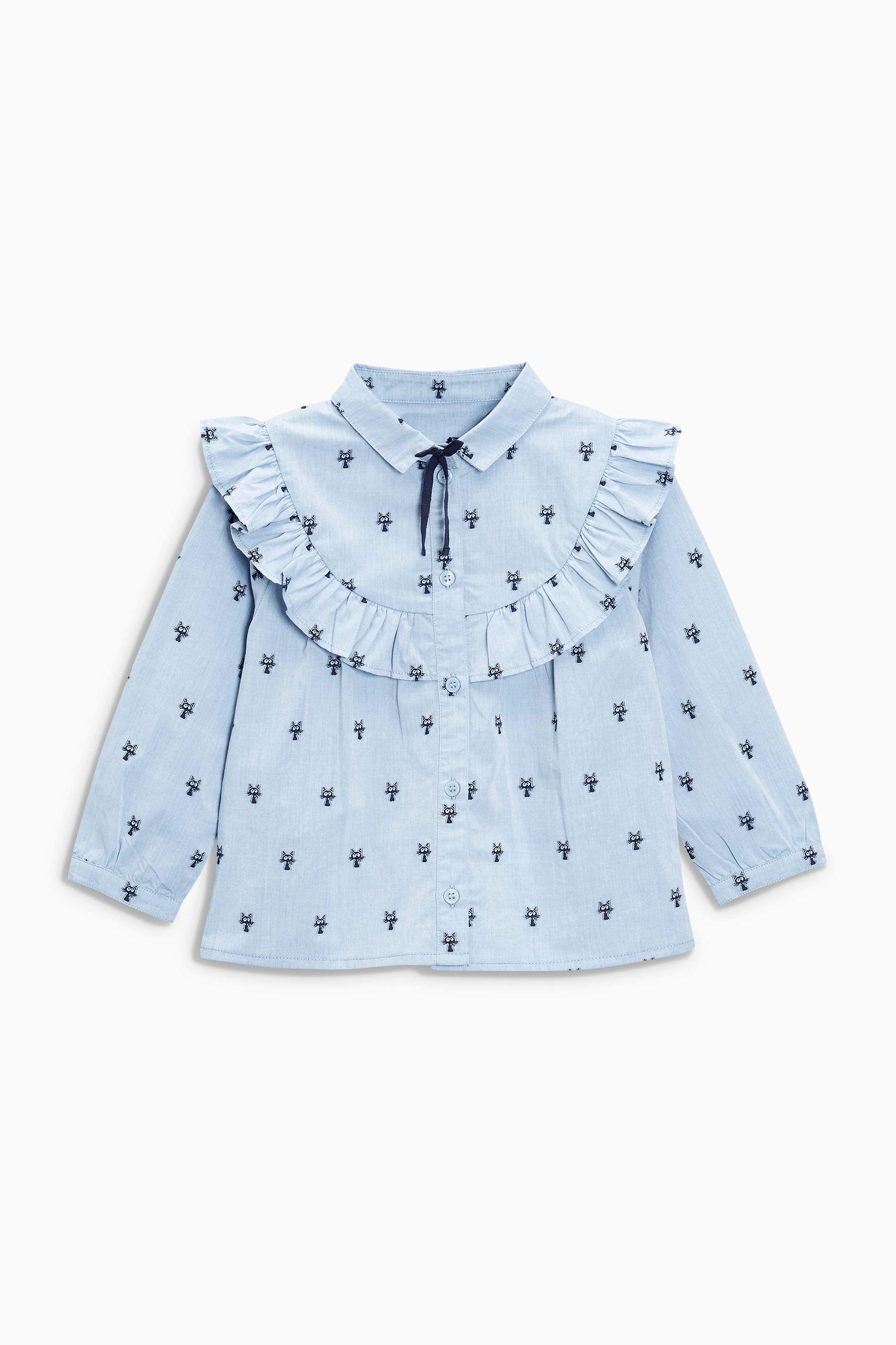 Buy Blue Cat Jacquard Shirt (3mths-6yrs) from the Next UK online shop