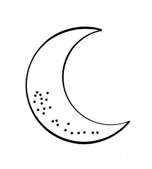 Resultat De Recherche D Images Pour Croissant De Lune A Imprimer Croissant De Lune Lune Tatouage Etoile
