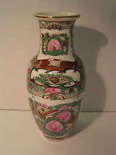 Alte China Porzellan Kanton-Vase, Ch`ing Dynastie!!