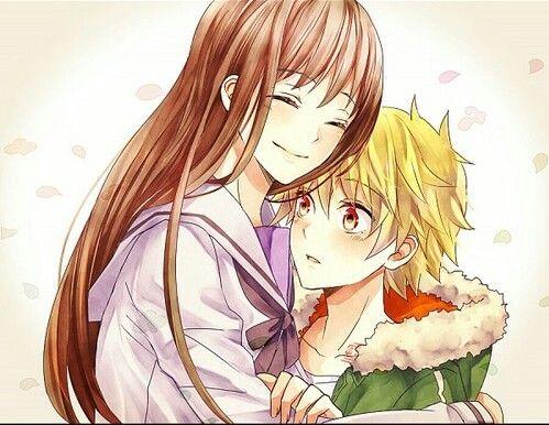 Anime asia asian beautiful boy cute girl guy hug - Anime boy hugging girl ...