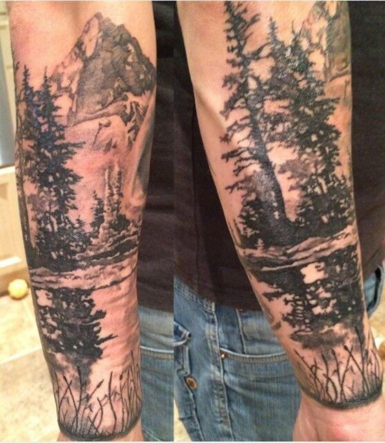 30 Tree Tattoos Sleeve tattoos, Forest tattoos, Tattoos