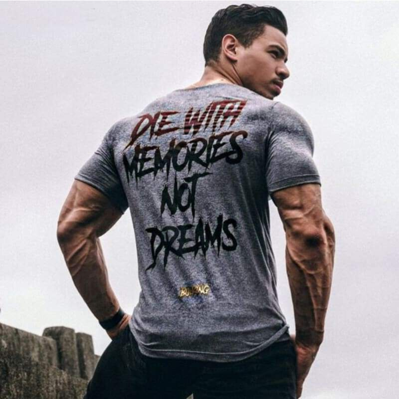 Men Superman Gym Bodybuilding Training Muscle Cotton Fitness Casual T-shirt Tee
