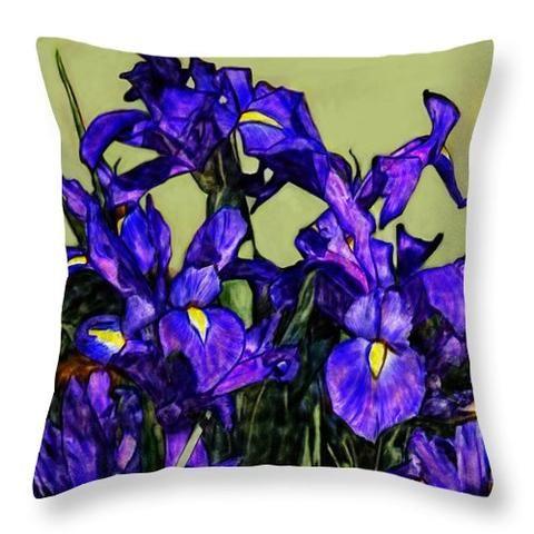 Portraits By Nc Decorative Pillows Pillow Iris Home Decor Flowers
