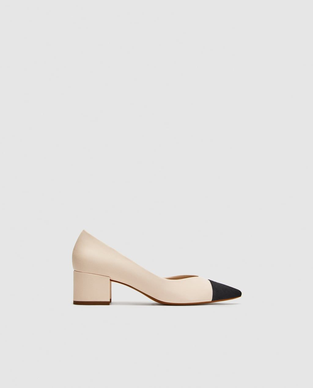 642739e7f19 Image 2 of POINTED MID-HEEL COURT SHOES from Zara POINTED MID-HEEL COURT