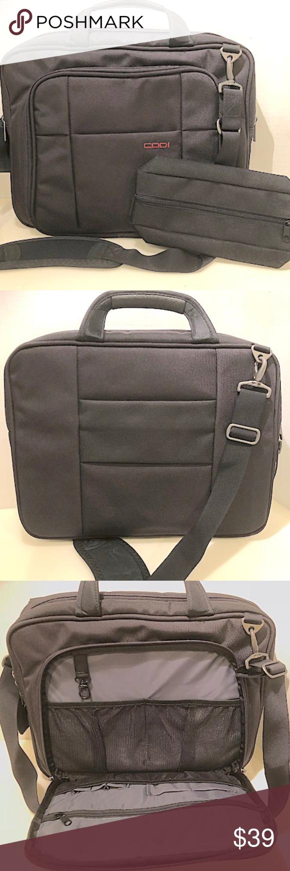 New Codi Heavy Duty Black Laptop Bag. New without tags Codi