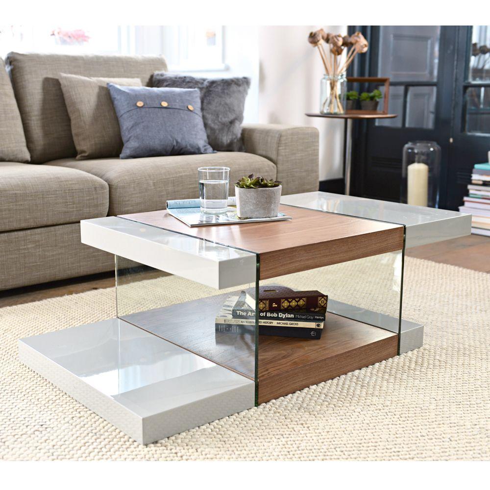 Sturado Coffee Table Light Grey And Walnut Dwell 249 Coffee Table Stylish Coffee Table Coffee Table Design [ 1000 x 1000 Pixel ]