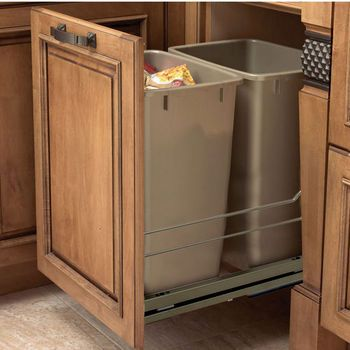 Pull Out Built In Trash Cans Cabinet Slide Out Under Sink Kitchen Trash Can Cabinet Modern Kitchen Trash Cans Kitchen Trash Cans