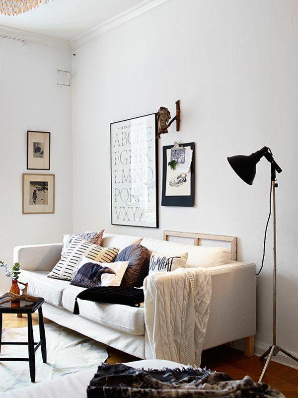 wohnzimmergestaltung ideen bilder design stehlampe couch - Wohnzimmergestaltung Bilder