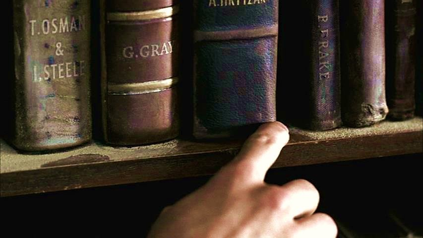 Faith: Sam takes a close look at Roy's books for clues and finds one