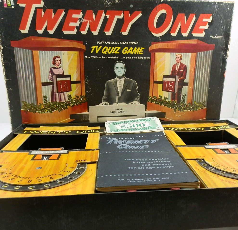 quiz show vintage board game 1950 39 s twenty one tv show neat objects pinterest vintage. Black Bedroom Furniture Sets. Home Design Ideas