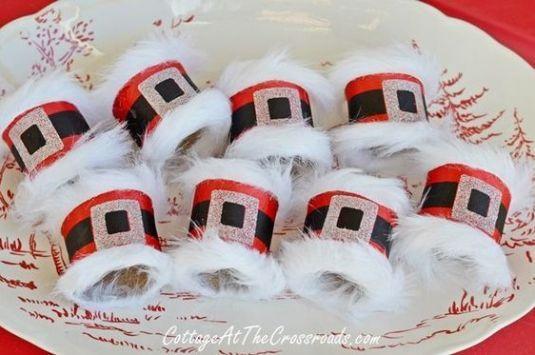 Bricolages de Noël avec des rouleaux de papier #decorationnoel