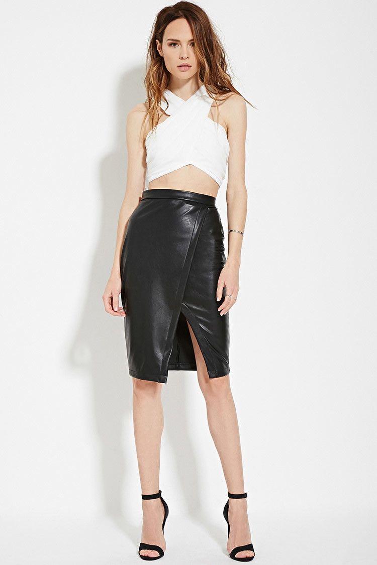 Pencil black skirt forever 21