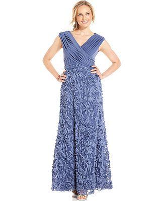 3335ea3051 Patra Cap-Sleeve Soutache Gown Formal Dresses For Women