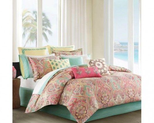 Echo Design Guinevere Comforter Set King Coral Bedding And
